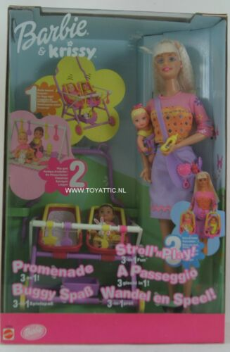 Barbie and Krissy stroll and 'n play 3in1 fun new in box NRFB hard to find!