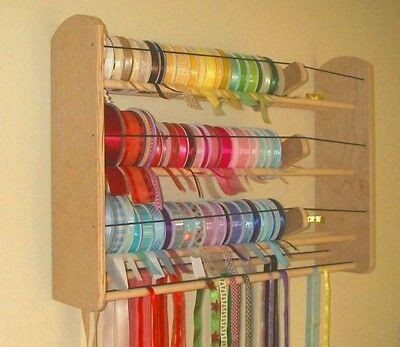 GSS Ribbon Organizer Desk//Wall Mount High Capacity /& EZ Load 102 Spools!!