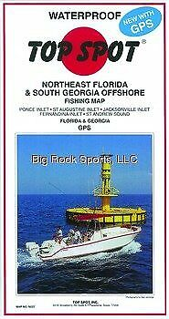 Nouveau Top Spot Pêche Map for Northeast Florida//sud de la Géorgie Libre 2 dayship