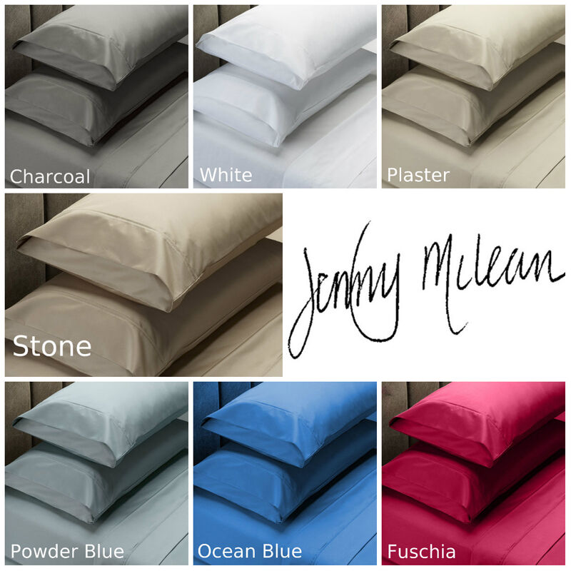 JENNY MCLEAN 1000TC 100% COTTON Fitted Sheet Set Double   Queen   King   Mega