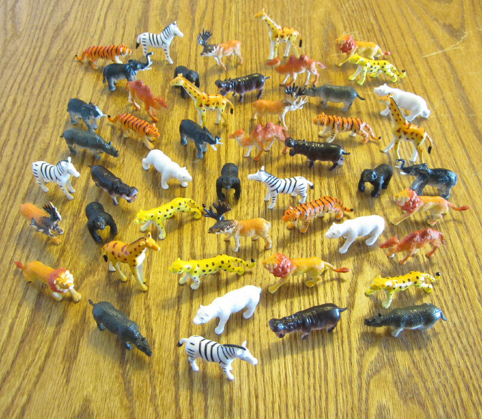 125 NEW ZOO ANIMALS TOY PLAYSET WILD JUNGLE ANIMAL  2