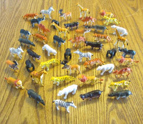 75 ZOO ANIMALS 2 TOY PLAYSET TIGER HIPPO LION CHEETAH GIRAFFE ZEBRA RHINO MOOSE