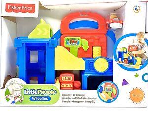 Fisher-Price-Little-People-Wheelies-Waschanlage-Werkstattcenter-Garage-Kreativ