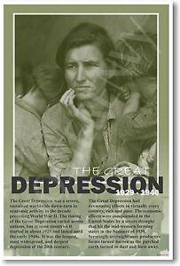Great Depression 1929 U.S. History Classroom POSTER ...