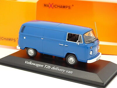 Minichamps 1/43 - Vw Giardinetta T2b Consegna Van Blu - Maxichamps
