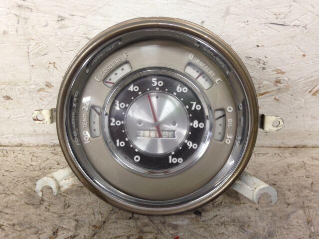 1950 Chevy Deluxe Speedometer OIL TEMP AMPS GAS Instrument & Gauge Cluster OEM
