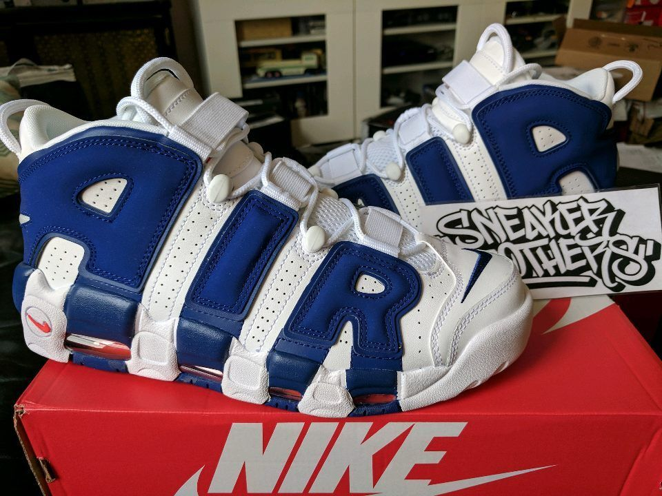 Nike Air More Uptempo '96 NY Knicks White Royal Blue Ewing 33 Pippen 921948-101