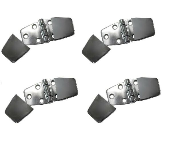 4 x Stainless Steel Hinges With Covers to Conceal Screws Marine Boat Hinges