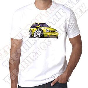 a17db8a57 WickedArtz Cartoon Car Yellow Seat Ibiza Mens 100% Cotton White T ...