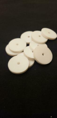"""4 PACK TEFLON WASHER 1//16 THK X  1//8 ID X 1/""""OD  FREE SHIPPING MADE IN THE USA"""