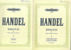 Händel : SONATAS for Violin and Basso Continuo Vol.1 - Urtext