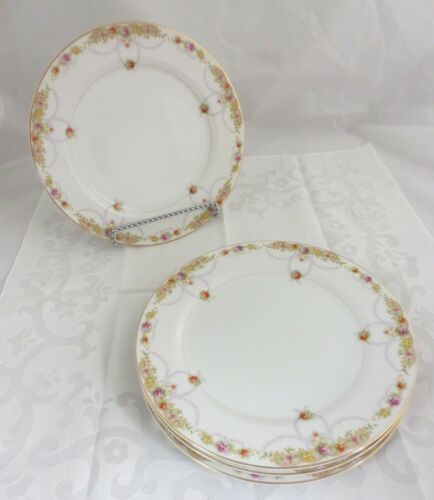 VINTAGE MICO WARE JAPAN CHINA SET OF 4 DINNER PLATES 10""