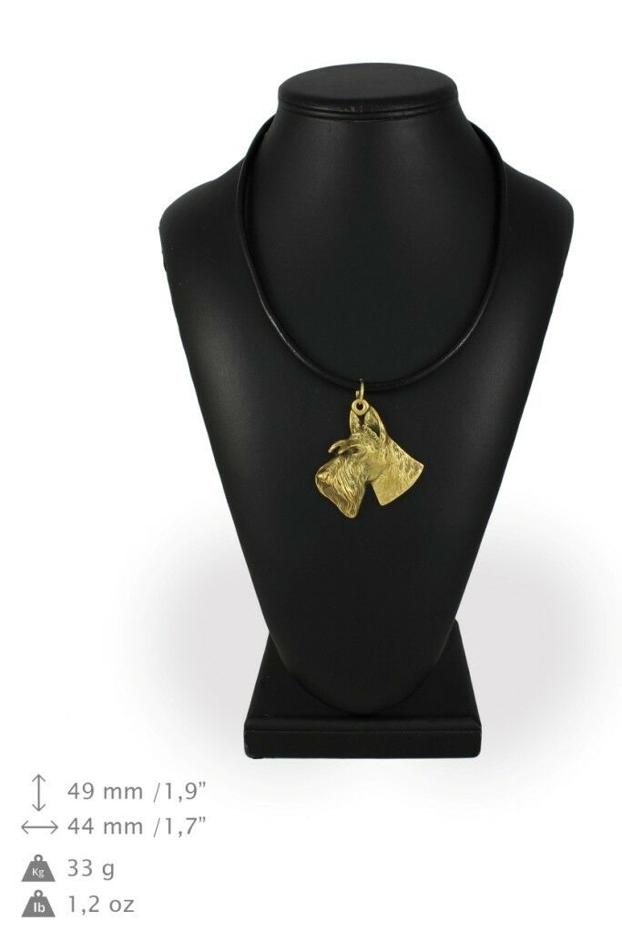 Scottish Terrier type 2 - Gold coverot necklace with dog, high quality Art Dog
