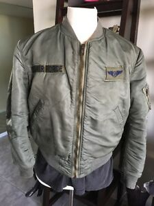 5c2b21c9eb7 RARE! 1968 Vietnam USAF MA-1 FLIGHT JACKET US Air Force Mil. Alpha ...