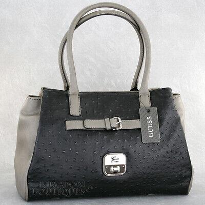 New GUESS Purse Womens Handbag Daysha Satchel Bag Black Multi Logo Sac NwT Bolso   eBay