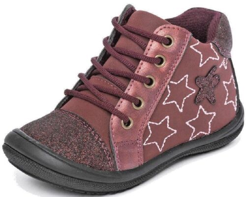 Girls Trainers Lace Up Star Stitch Pattern Shoes Sneakers Glitter UK Sizes 4-10