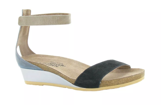 Naot Pixie Black Slate Beige Wedge Sandal Women's sizes 5-11 36-42 NEW