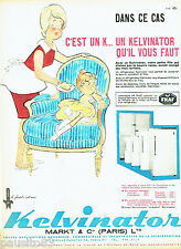 PUBLICITE ADVERTISING 026  1961  Kelvinator   réfrigérateur