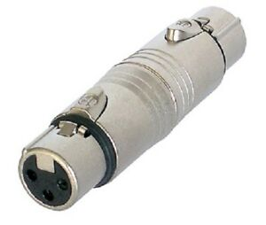 Genuine-NEUTRIK-NA3F5F-3-Pin-XLR-Female-to-5-Pin-Female-DMX-Adapter