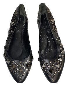 womens black flat shoes size 8