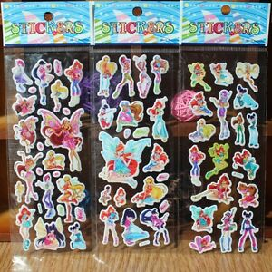 Winx Club sticker toys for children party favor lot of 6 sheets (random pattern)