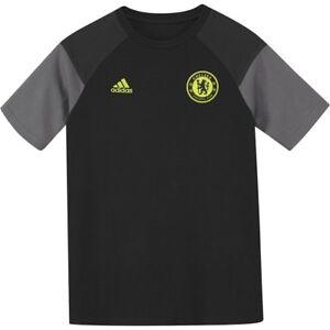 f7cf4d5d Chelsea T Shirt Adidas Official Kids Black & Solar Yellow Cotton | eBay
