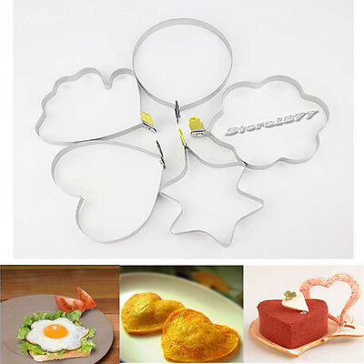 Kitchen Stainless Steel Shaped Pancake Mold Cook Fried Egg Shaper H004