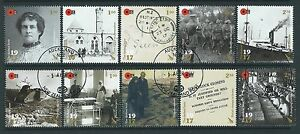 NEW ZEALAND 2017 THE DARKEST HOUR WWI SET OF 10 FINE USED