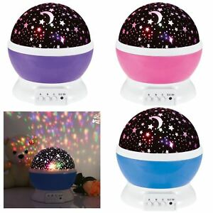 LED Starry Night Sky Rotating Projector Lamp Star Cosmos Master Romantic