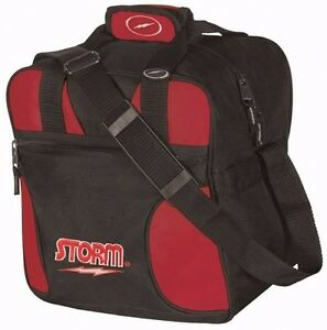 Storm 1 Ball SIngle Solo Bowling bag Tote Red- Great for kids.