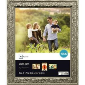 Mainstays 16x20 Decorative Silver Poster Frame Wall Picture Home