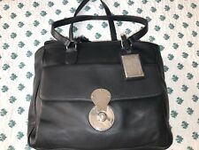f0f843d6b570  2500 Ralph Lauren Ricky Black Leather Italy Purple Label Purse HandBag Bag