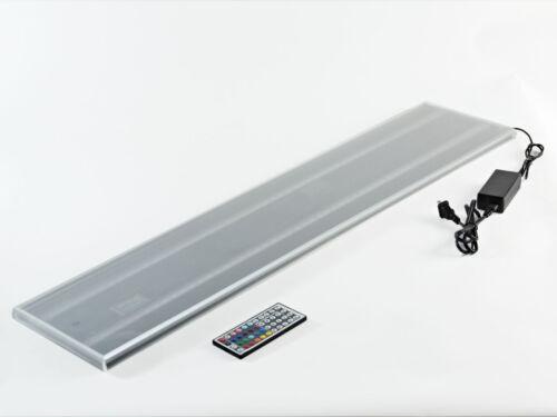 LED Lit Acrylic Bottle Display Double Wide Shelf