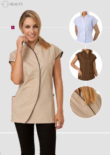 da Loose Siggi Estetista Scarlett 3 Large Camicie Light Colors Parrucchiere giacca OqvnFttd