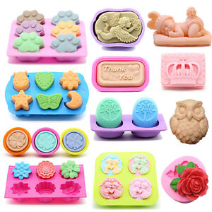 60Styles Silicone Soap Ice Cube Candy Chocolate Moulds Cookie DIY Candle Mold