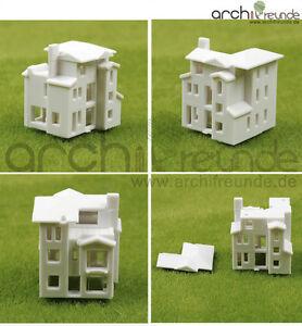 type C type B 3 x modèle bâtiment villa appartement maison 1:500 type A