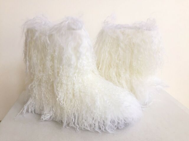 4f06e41915b UGG CLASSIC FLUFF MOMMA MONGOLIAN WHITE SHEEPSKIN CUFF BOOT US 11/EU 42 /UK  9.5