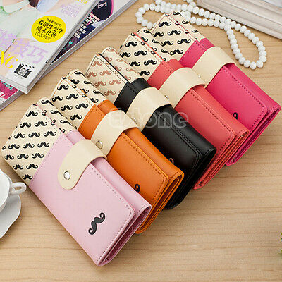Fashion Women PU Leather Long Purse Clutch Cute Button Wallet Bag Card Holder