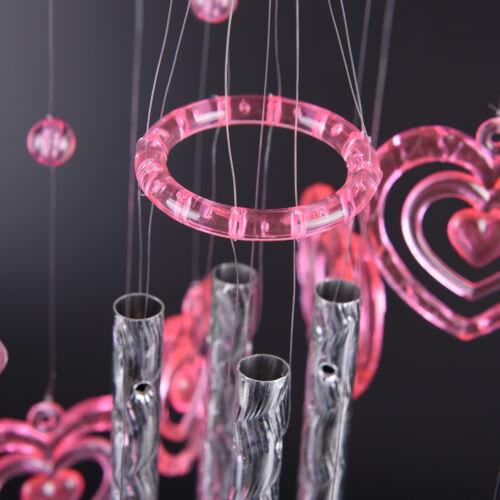 Herz Wind Glockenspiel Delphin Haus Garten für Liebhaber Valentinsgrüße Hs