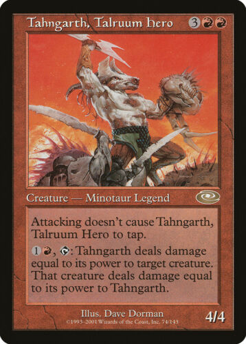 Tahngarth, Talruum Hero Planeshift NM-M Red Rare MAGIC GATHERING CARD ABUGames