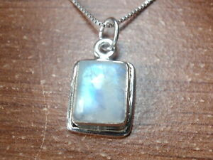 Small-Blue-Moonstone-Rectangle-925-Sterling-Silver-Pendant