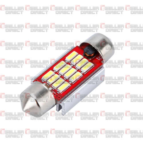 6K PAIR NUMBER PLATE BULBS LIGHTS 12 LED WHITE XENON FORD FIESTA MK6 CANBUS