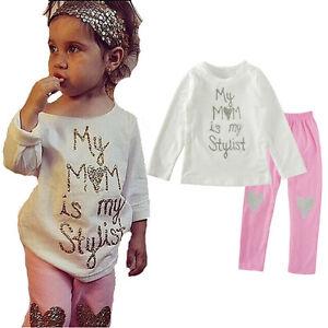 2PCS-Toddler-Kids-Baby-Girl-Outfits-Clothes-Suit-T-Shirt-Tops-Pants-Leggings-Set