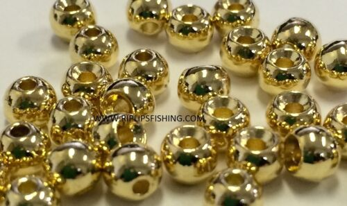 """TUNGSTEN FLY TYING BEADS GOLD 4.5 MM 3//16/"""" 100 COUNT"""