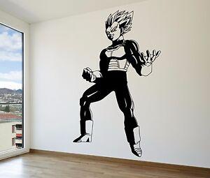 Vegeta Super Saiyan Vinyl Wall Decal Dragon Ball Z DBZ Anime - Dragon ball z wall decals