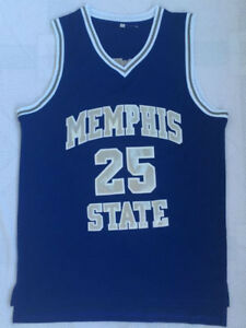 quality design 1297d 08c58 Details about Penny Hardaway Jersey 25 Memphis State Tiger College Sewn  Basketball Jersey