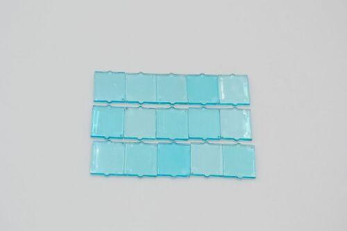 LEGO 15 x Scheibe transparent hellblau Trans-Light Blue 1x2x2 Flat Front 60601
