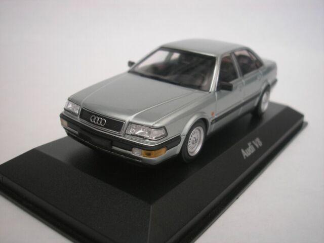 Audi V8 1988 Silver Metallic 1/43 maxichamps 940016001 New