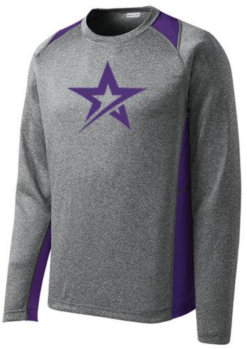 Roto Grip Men/'s Menace Bowling Performance Shirt Long Sleeve Heather Purple