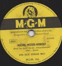 Dick Hyman Trio 1956 : Mackie Messer Moritat aus der  Dreigroschenoper